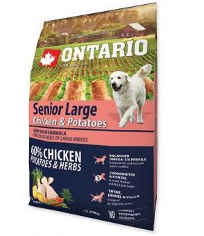 Ontario 12кг Senior Large Chicken & Potatoes Сухой корм для пожилых собак крупных пород с курицей и картофелем