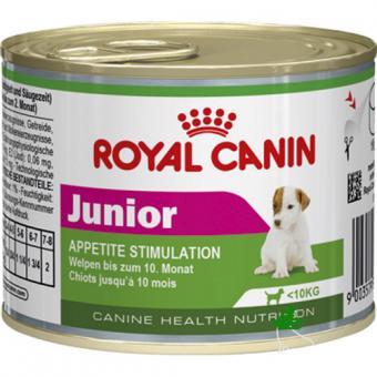 12шт Royal canin 195 г. Junior Mousse Мусс для щенков от 2 месяцев до 10 месяцев