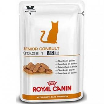 12 шт. Royal canin 100 г. Senior consult stage2 Влажный корм для кошек старше 7 лет имеющих видимые признаки старения