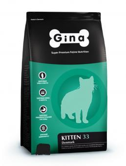Gina 1 кг kitten-33 Denmark Сухой корм суперпремиум класса для котят