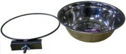 Миска клеточная с зажимом, 1мет.миска диаметр 14см  350мл