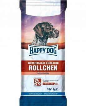 Happy dog 120 гр   Жевательные колбаски с рубцом