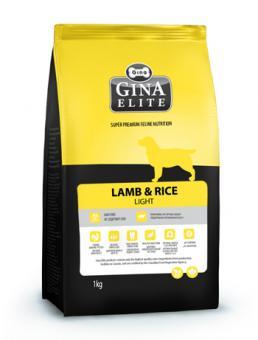 Gina 1кг Elite Lamb &Rice Light Гипоаллергенный облегченный корм на основе мяса ягненка для собак-аллергиков Канада