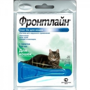 Merial Frontline Spot On K 0.5 Капли инсектицидные для кошек, пипетка 0.5мл