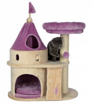 """TRIXIE Домик-замок для кошки """"My Kitty Darling"""" 90 см, бежевый/сиреневый"""