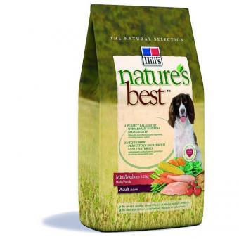 Hill's 12кг Nature`s Best SP Canine Adult Mini/Medium для взрослых собак мелких и средних пород с курой и овощами