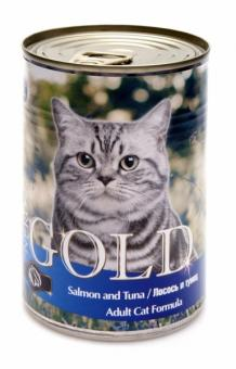 6шт Nero Gold 410г Salmon and Tuna консервы, Лосось и тунец