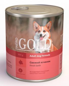 Nero Gold 0,81 кг кг Adult Dog Formula Fresh Lamb консервы для взрослых собак Свежий Ягненок