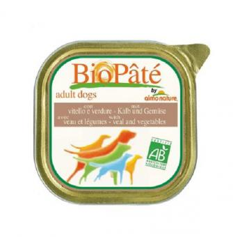 4шт Almo nature 300гр Bio pate adult veal vegetables Консервы для взрослых собак паштет телятина с овощами