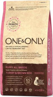 ONE&ONLY 3кг Turkey & Rice PUPPY All Breeds Индейка с рисом для щенков всех пород