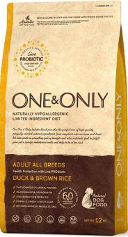 ONE&ONLY 1кг Duck & Rice Adult All Breeds, утка с рисом для собак всех пород
