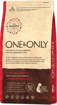 ONE&ONLY 3кг Lamb & Rice Adult All Breeds ягнёнок с рисом для собак всех пород