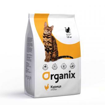 Organix Adult Cat Chicken 1,5 кг Натуральный сухой корм для взрослых кошек с курицей