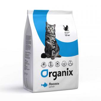 Organix Adult Cat Salmon 7,5 кг Сухой корм для кошек со свежим лососем и рисом
