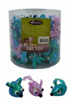 Papillon Glitter mouse Мышка шуршащая, игрушка для кошек 5см (240029)