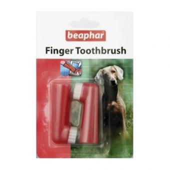 Beaphar Зубная щетка двойная для собак на ПАЛЕЦ  New