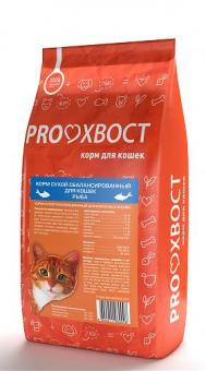 PROХВОСТ 10 кг Корм сухой для кошек, рыба