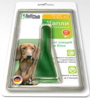 Rolf Club капли 4-10кг от блох и клещей для собак