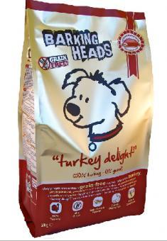 """Barking Heads 12кг Top Dog Turkey Беззерновой для Собак с Индейкой и бататом """"Бесподобная индейка"""""""