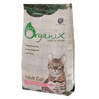 Organix 7,5кг Adult Cat Salmon  Для кошек со свежим лососем и рисом
