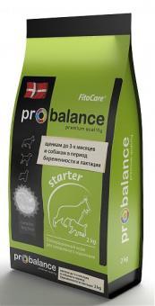 ProBalance 2кг Starter корм сухой щенков до 2-х мес, беременных и кормящик сук