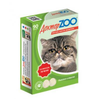 Доктор ZOO со вкусом печени 90 таб. Мультивитаминное лакомство для кошек