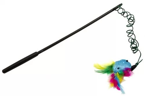 JW Wanderfuls Дразнилка с перьями, блестящая, игрушка для кошек