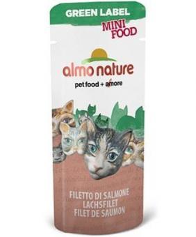 Almo Nature 30гр Green Label Mini Food Salmon Fillet Филе Лосося лакомство для кошек