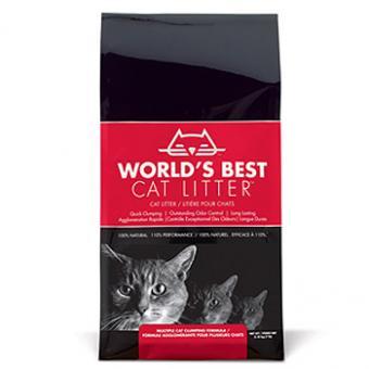 World's Best  комкующийся 3,18 кг (кукурузный)  наполнитель для кошачьих туалетов,  мультиформула WBCL Multiple Cat Clumping Formula
