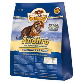 Wildcat 0,5кг Andhra Сухой гипоаллергенный корм для кошек, рыба