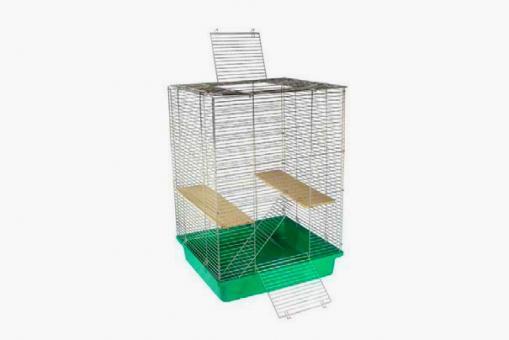 Клетка для хорьков и шиншил 550*550*800 (2полочки) на пласт.поддоне