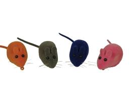 Зооник Мяч погремушка цветная с перышками, игрушка для кошек (16417)