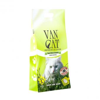 VAN CAT 15кг Комкующийся наполнитель для Крупных кошек, без пыли, пакет