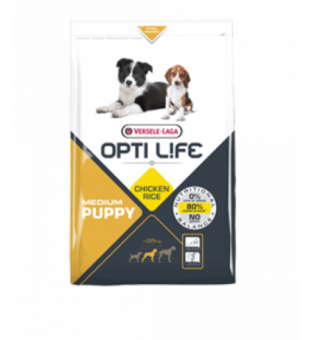 Opti Life Puppy Medium 2,5кг Сухой корм для Щенков средних пород, курица/рис