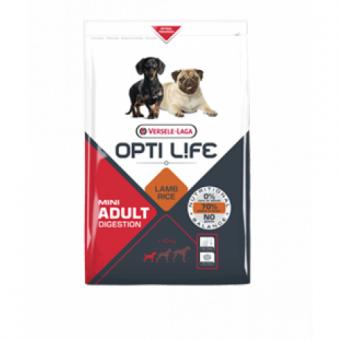 Opti Life Adult Digestion Mini 2.5кг Сухой корм для собак мелких пород с чувствительным пищеварением, ягненок/рис