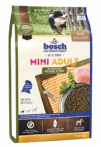 Bosch 3 кг Adult mini lamb rice Сухой корм для взрослых собак мелких пород ягненок рис