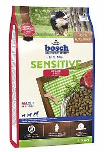 Bosch 3 кг Sensitive lamb rice Сухой корм для взрослых собак, склонных к аллергии  ягненок рис