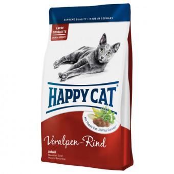 Happy cat 0,3 кг. Adult beef Сухой корм для взрослых кошек Альпийская говядина без рыбы