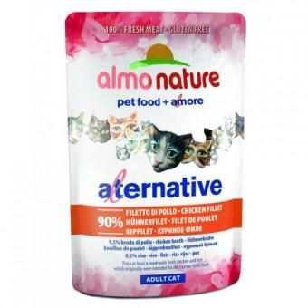 6шт Almo Nature 55гр Паучи для кошек Куриное филе 90% мяса