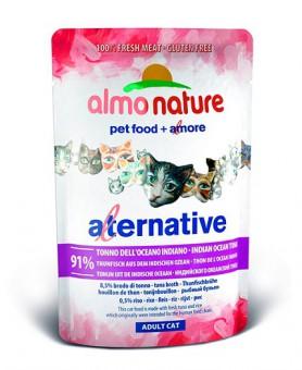 6шт Almo Nature 55гр Паучи для кошек Тунец Индийского океана 91% мяса
