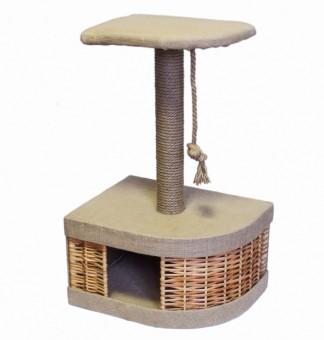 Yami-Yami Домик-когтеточка Плетенка угловой из лозы
