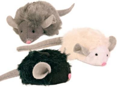 TRIXIE Игрушка для кошек 1 Мягкая мышка с микрочипом, 6,5см (пищит при касании)