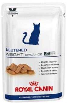 12 шт. Royal canin 100 г.Neutered Weight Balance Влажный корм для кастрированных стерилизованных котов и кошек с 1 до 7 лет