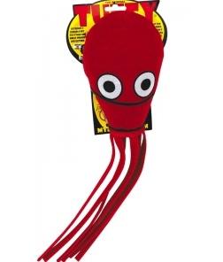 """Tuffy Ocean Creature Jr Squid Red Супер прочная игрушка для собак """"Обитатели океана"""" Кальмар, малая, красный, прочность 8/10"""