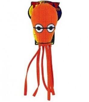 """Tuffy Ocean Creature Jr Squid Orange Супер прочная игрушка для собак """"Обитатели океана"""" Кальмар, малая, оранжевый, прочность 8/10"""