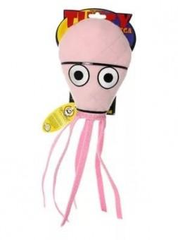 """Tuffy Ocean Creature Ultimate Squid Pink Супер прочная игрушка для собак """"Обитатели океана"""" Кальмар, средний, розовый, прочность 9/10"""