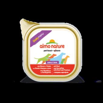 6шт.Almo Nature 100г Daily Menu - Beef and Potatoes Паштет для собак Меню с Говядиной и картофелем