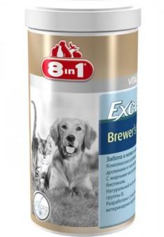 8in1 Excel Brewer's Yeast 780 таб. Пивные дрожжи Эксель для восстановления кожи и шерсти кошек и собак