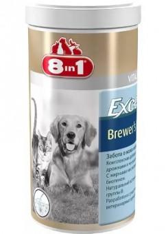 8in1 Excel Brewer's Yeast 260 таб. Пивные дрожжи Эксель для восстановления кожи и шерсти кошек и собак