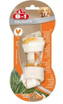 8in1 Delights S 11 см косточка для собак мелких и средних пород с курицей